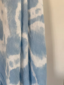 Powder Blue Tie Dye Wrap