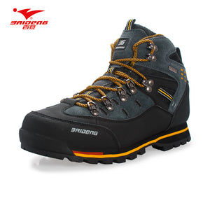 Men Hiking Shoes Waterproof leather Shoes