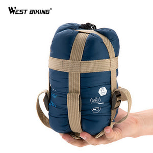 WEST BIKING Ultra-light Portable Single Sleeping Bag Spring Liner Polyester Pongee Healthy Camping Cycling Travel Sleeping Bag