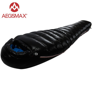 White Goose Down Mummy Camping Sleeping Bag for the Cold Winter