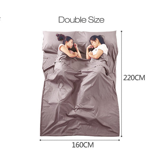 New arrival Outdoor Cotton Sleeping Bag Liner Pongee Portable Camping Travel Sleeping Bag Mattress Bed Sheet Sleeping mattress