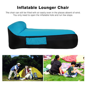 Inflatable Lounger Chair with Carry Bag Fast Inflate Air Sofa Sleeping Bed Outdoor Couch for Travelling Camping Pool Beach