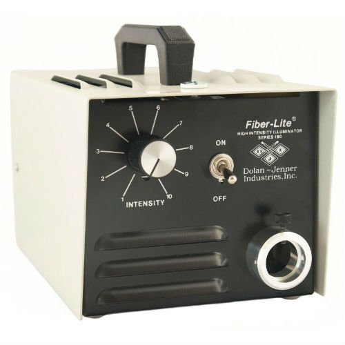 Dolan Jenner Fiber Lite 180 Series Industrial Steel enclosure 150 watt halogen EKE lamp 115 VAC input variable intensity