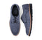 Barefoot Blue Lace Up Suede For Men 8888-NB