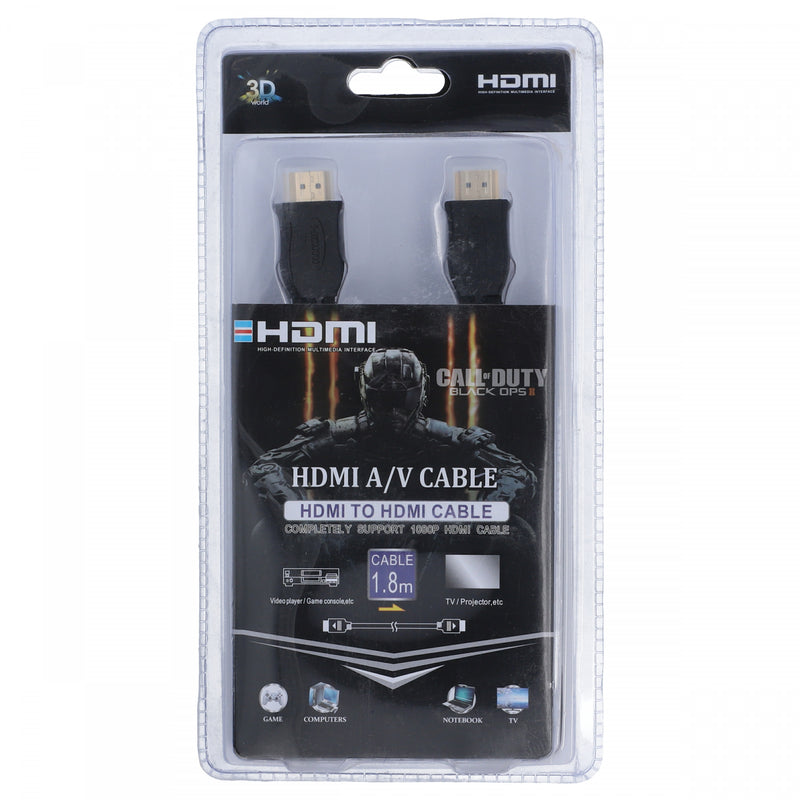Call of Duty Hdmi To Hdmi Cable 1.8 Meter Black