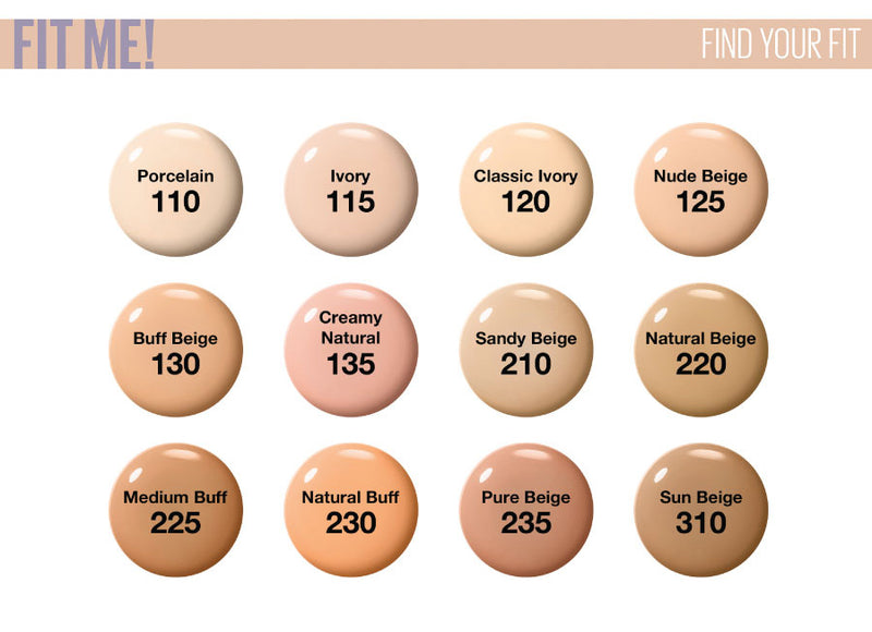 Maybelline New York Fit Me Foundation Luminous + Smooth - 120 Classic Ivory