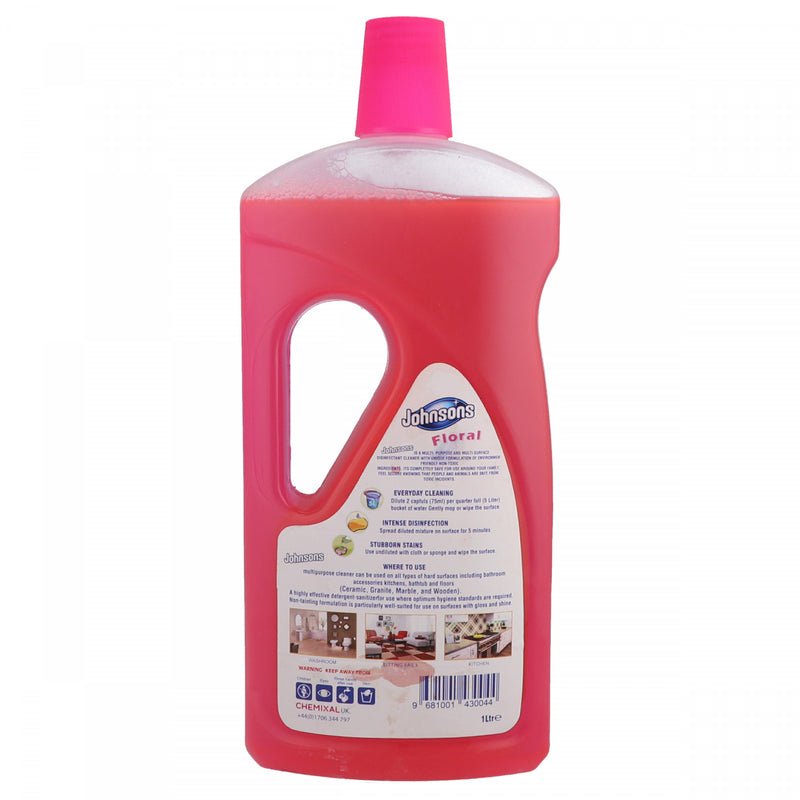 Johnsons All Surface Cleaner Floral Disinfectant 1 Litre