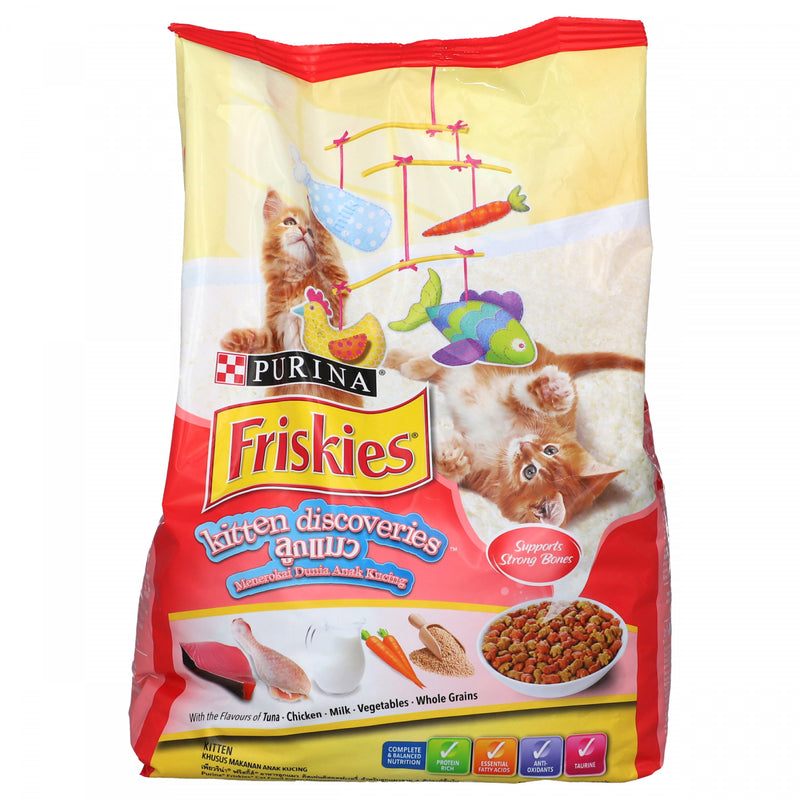 Purina Friskies Kitten Discoveries Flavors of TunaChickenMilkVegetableWhole Grain Cat Food 1.1Kg