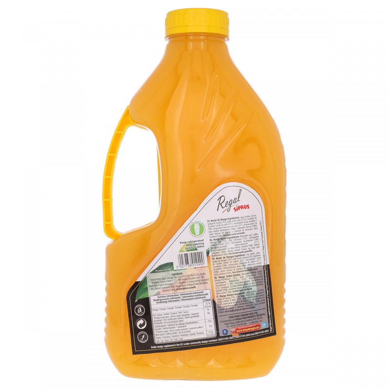 Regal Siprus Finest Mango Nectar 14 Mangoes Fruit Drink 2 Litres