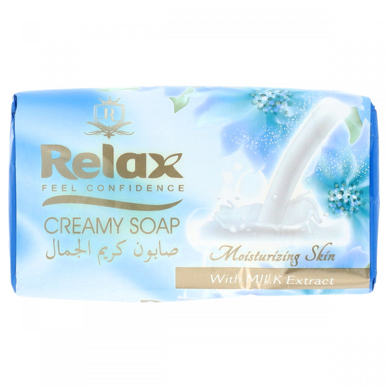 Relax Creamy Soap Moisturizing Skin With Milk Extract 150g