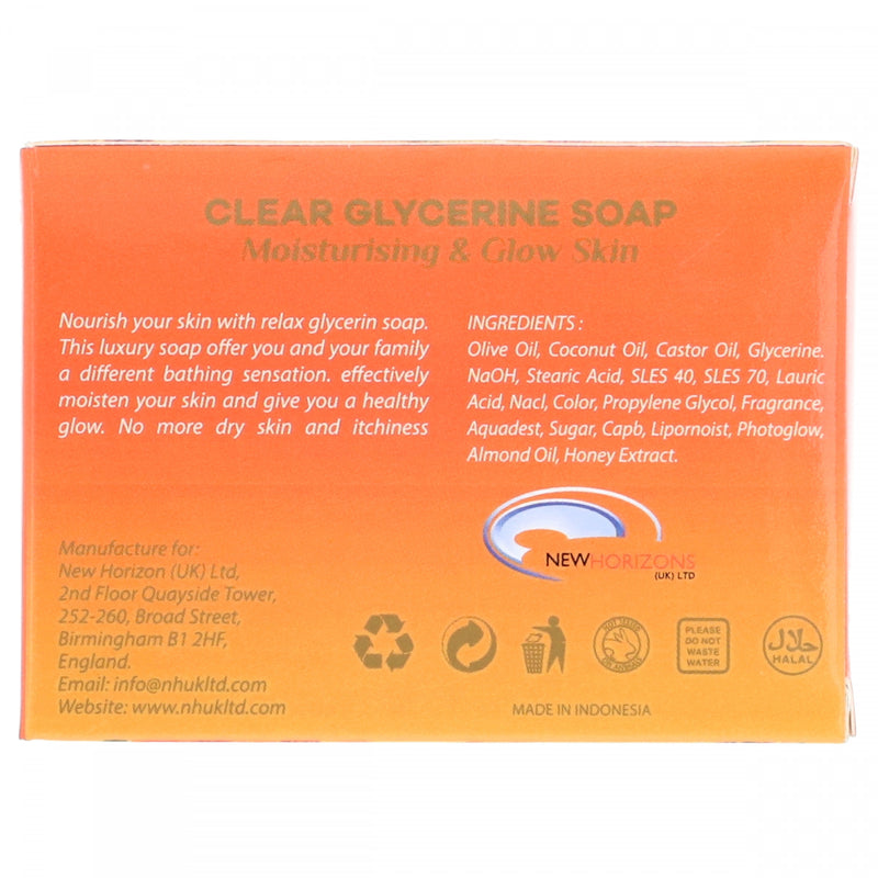 Relax Honey Extract Clear Glycerine Soap 125g