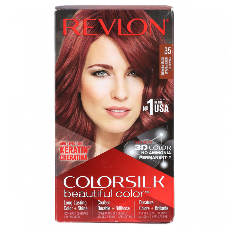 Revlon Color Silk Beautiful Hair Color 35 Vibrant Red