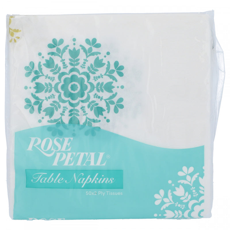 Rose Petal Table Napkins 2Ply x 50 Tissues