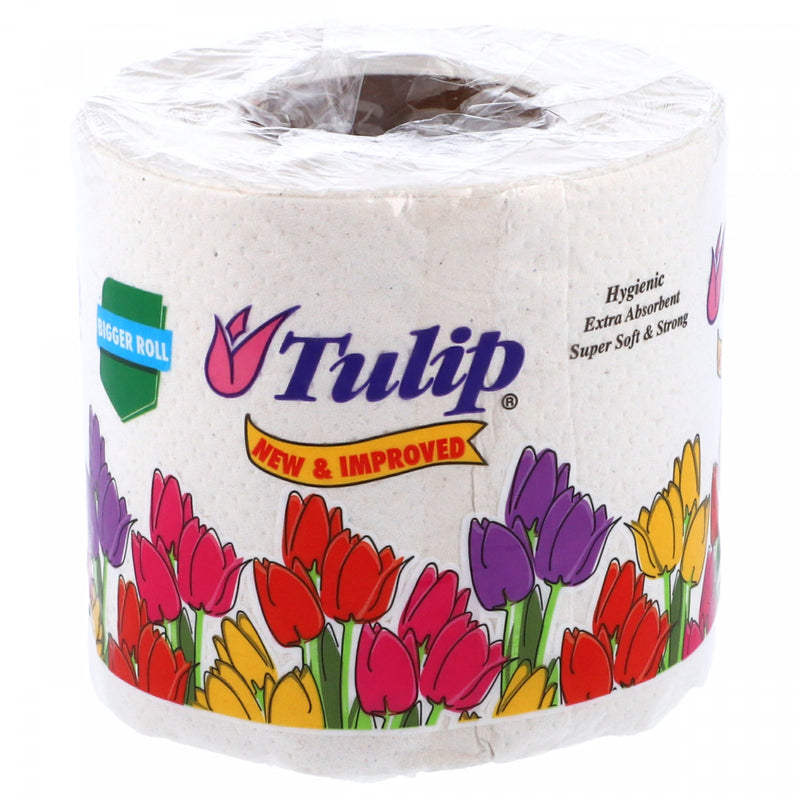 Rose Petal Tulip Bachat Roll White