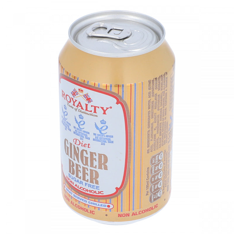 Royality Diet Ginger Drink Non Alcoholic Can 330ml