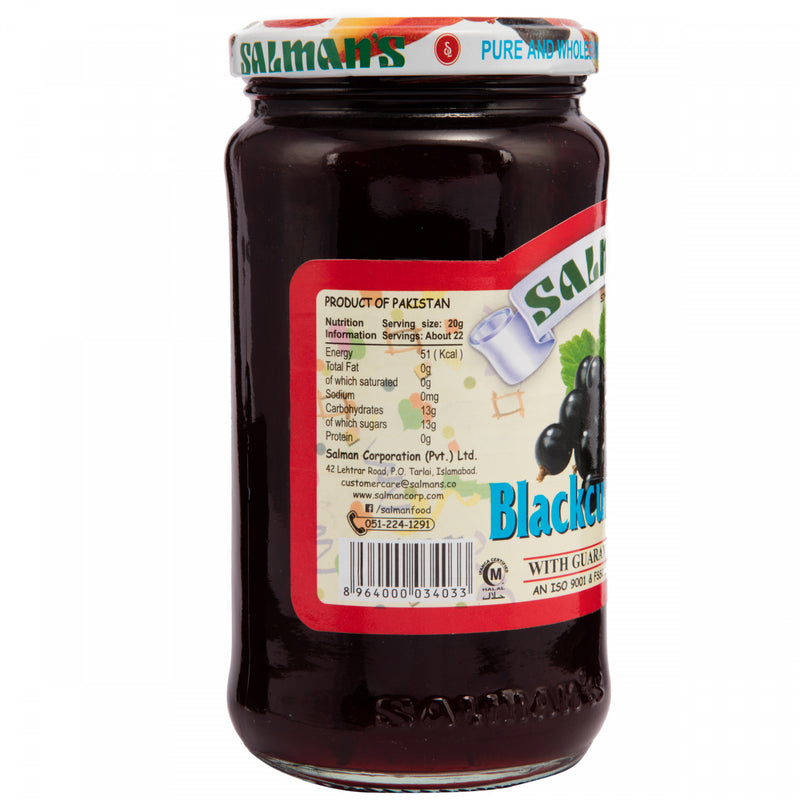 Salmans Blackcurrant Jam Jar 450g