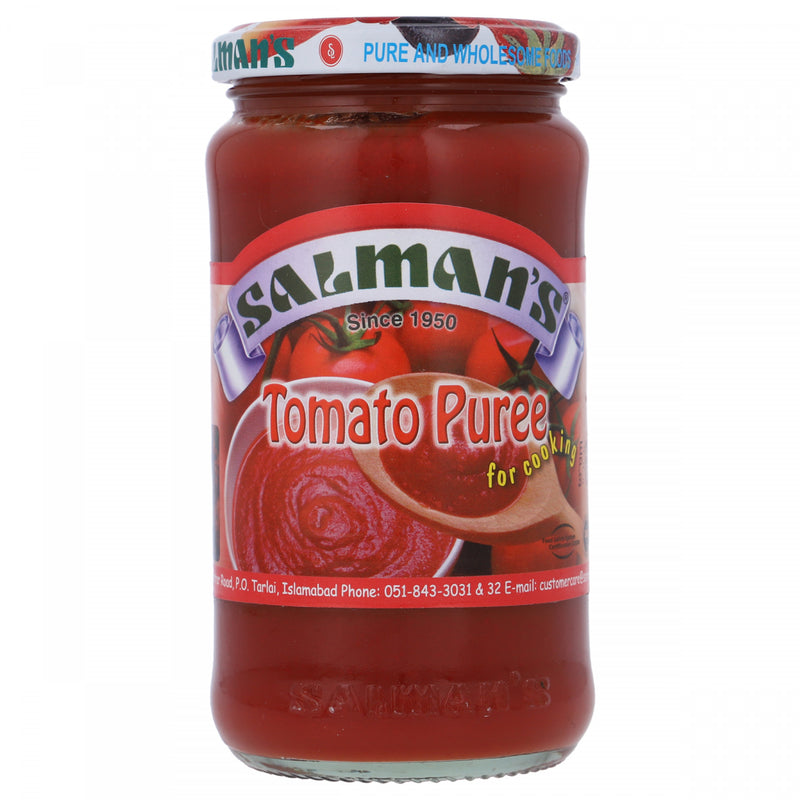 Salmans Tomato Puree For Cooking Glass Jar 370g