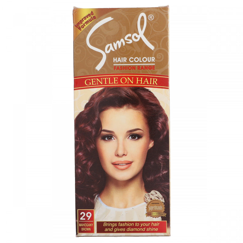 Samsol Hair Color Fashion Range Gentle Hair Color 29 Mahogany Brown