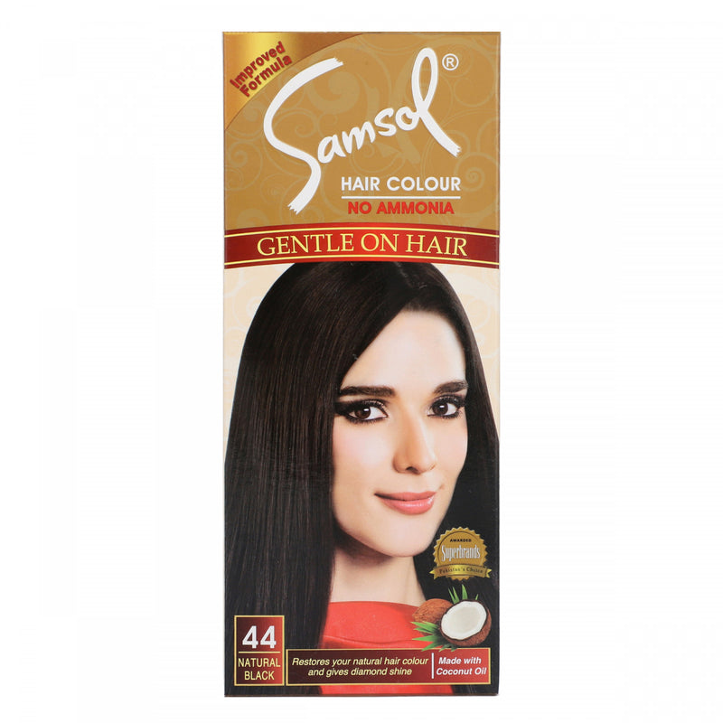 Samsol Hair Color No Ammonia 44 Natural Black