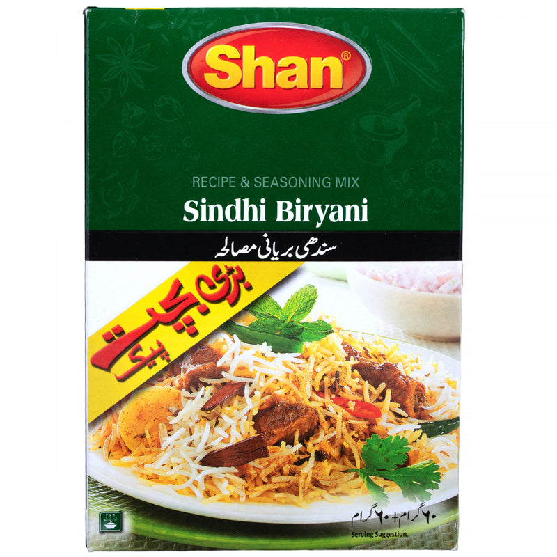 Shan Recipe & Seasoning Mix Sindhi Biryani Masala 60g + 60g