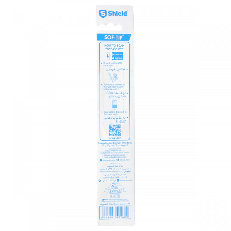 Shield Soft tip toothbrush soft