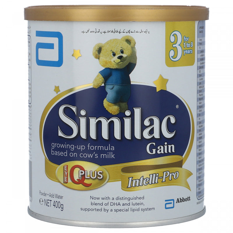 Similac 3 gain Growing Up Formula Based on Cows Milk For 1 to 3 Years 400g