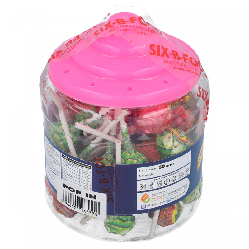 Star Pop In Gum Filled Lolipops 50 Pieces