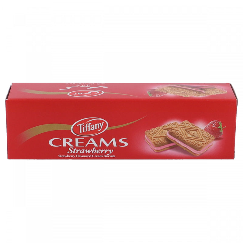 Tiffany Creams Strawberry Flavored Cream Biscuits 84g