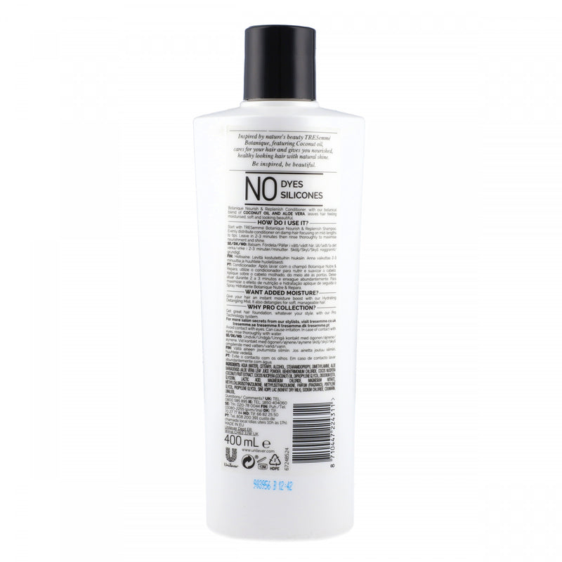 Tresemme Pro Collection Botanique Nourish and Replenish Conditioner 400ml