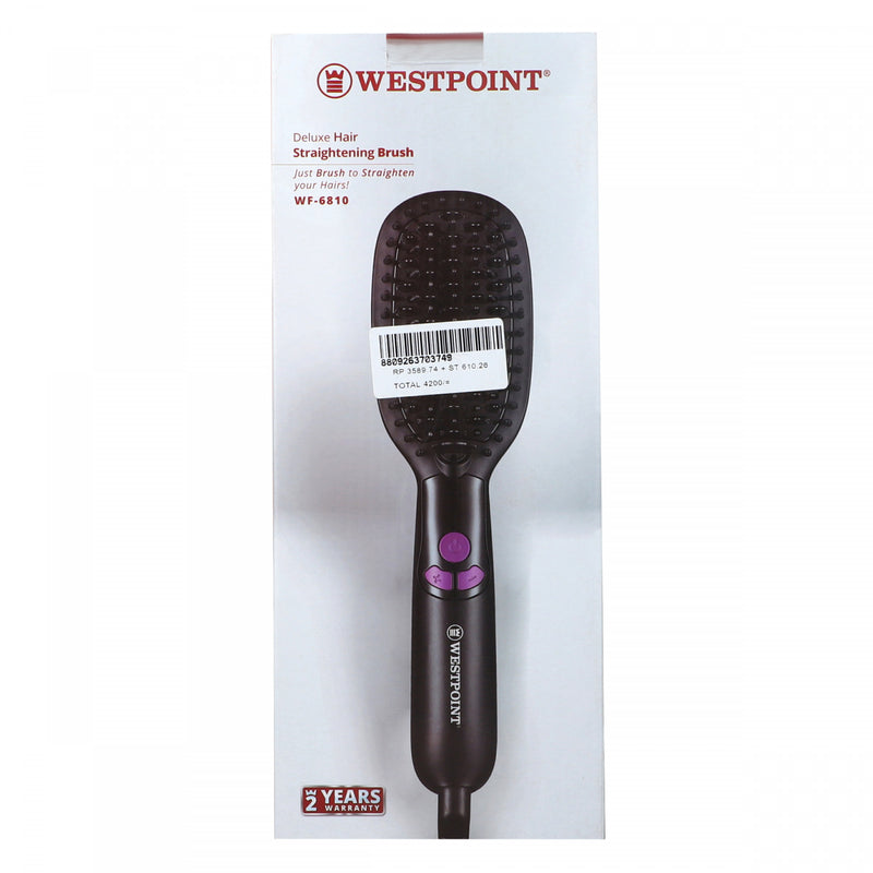 Westpoint Deluxe Straightening Brush WF-6810 Black
