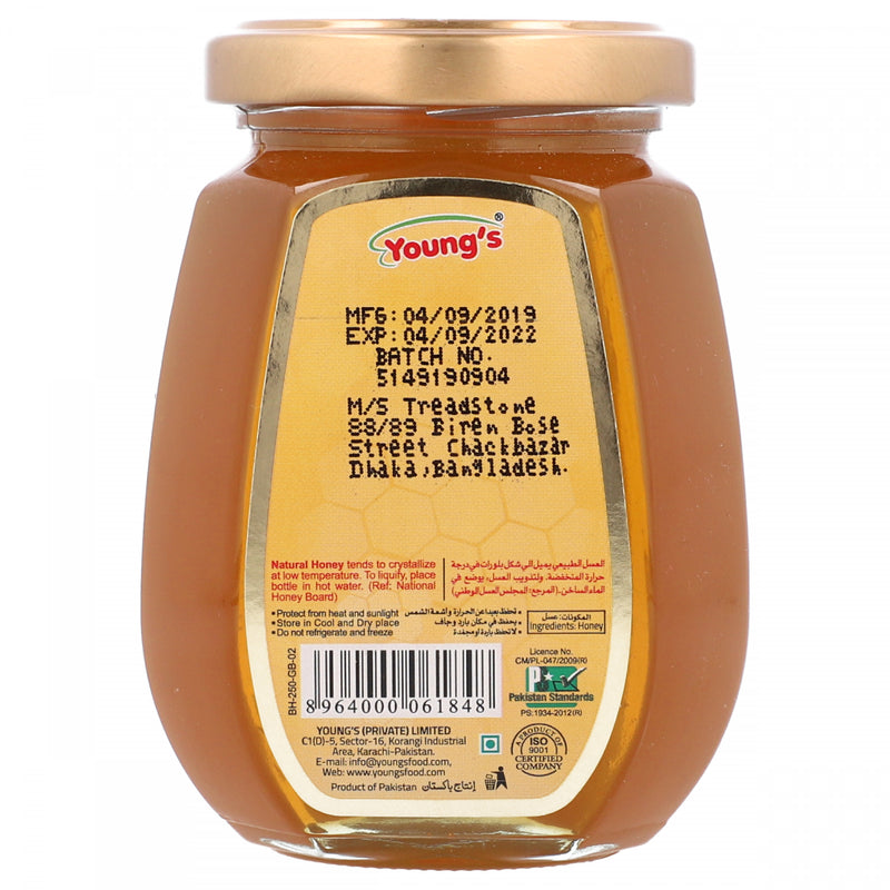 Youngs Bee Hives Natural Honey 250g