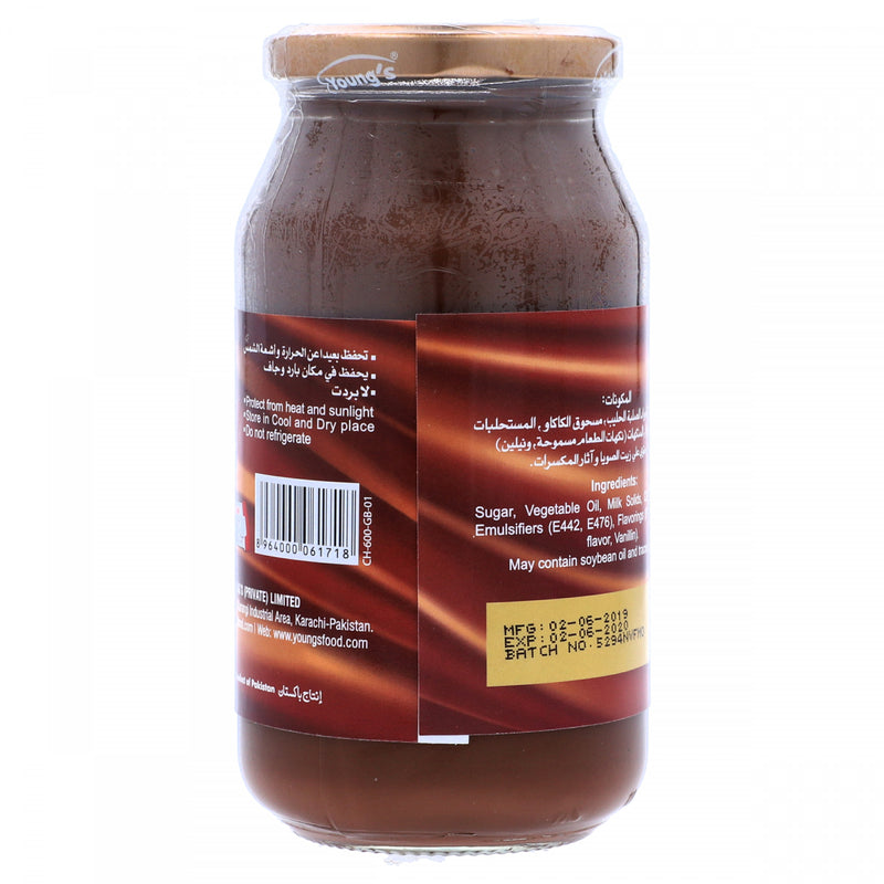 Youngs Chocolate Spread Cocoa Based 600g