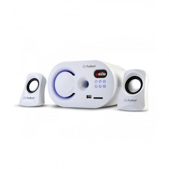Audionic X-Boom-5(White)2.1 Speaker(Usb/Sd/Mmc/ Fm)