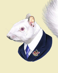 "Ryan Berkley - ""Albino Squirrel"" Print"