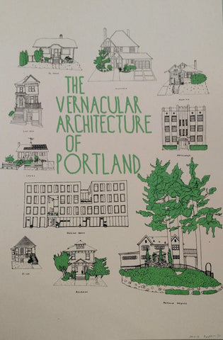 "Max Podemski - ""The Vernacular Architecture of Portland"" Poster"