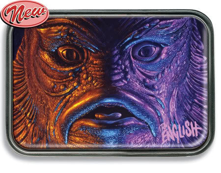 "Ron English - ""Creature Feature"" Retro Belt Buckle"