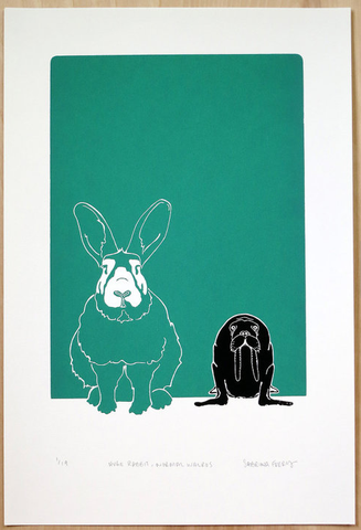 "Sabrina Ferry - ""Huge Rabbit, Normal Walrus"" Print"