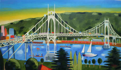 """St. John's Bridge"" Print"