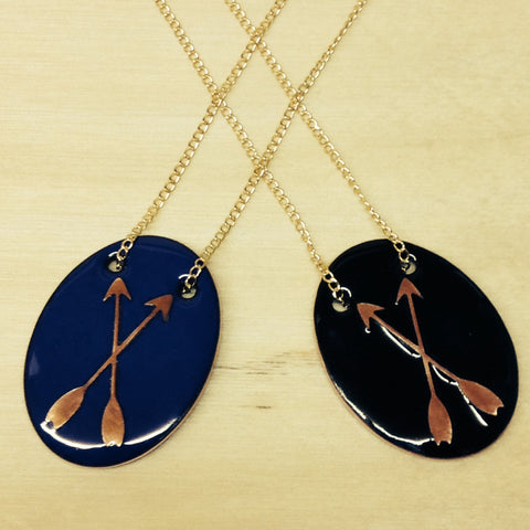 Alisha Louise Designs - Crossed Arrows Crest Necklace