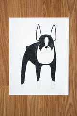 "Gingiber ""Boston Terrier"" Art Print"
