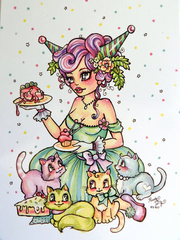 Kittens and Cake Postcard Pack by Rudy Fig
