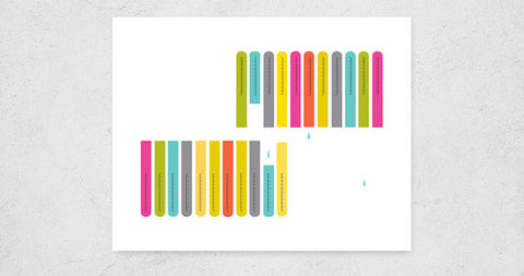 Colorful Test tubes Science Lab Art Print
