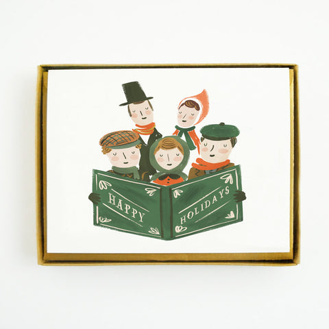 Quill & Fox - Carollers 10 Piece Boxed Cards