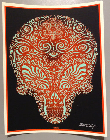 "EMEK - ""Alien Skull"" Black and Red"