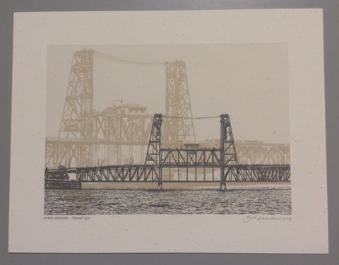 "Beth Kerschen - ""Steel Bridge"" Print"