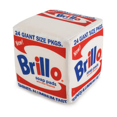 ANDY WARHOL WHITE BRILLO BOX MEDIUM PLUSH