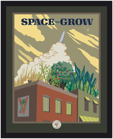 "The Victory Garden of Tomorrow - ""Space to Grow"" Color Poster"