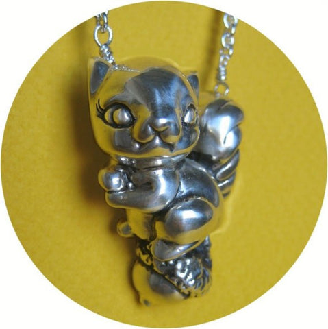 Squirrel and Nut Necklace