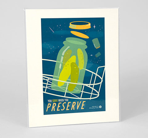 "The Victory Garden of Tomorrow - ""Preserve"" Print"