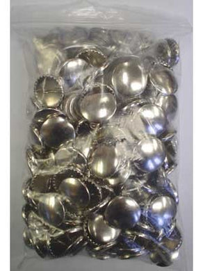Cover Buttons, Metal, Bulk Package